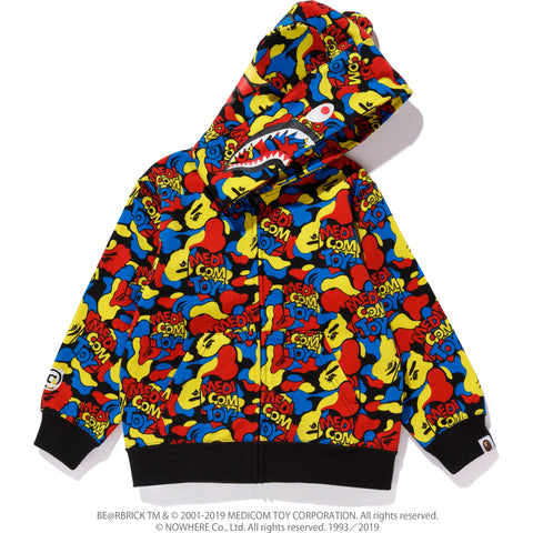 MEDICOM TOY CAMO BE@R SHARK ZIP HOODIE KIDS