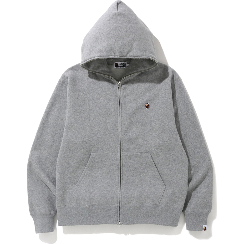 RELAXED ONE POINT FULL ZIP HOODIE MENS