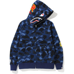 COLOR CAMO SHARK FULL ZIP HOODIE MENS