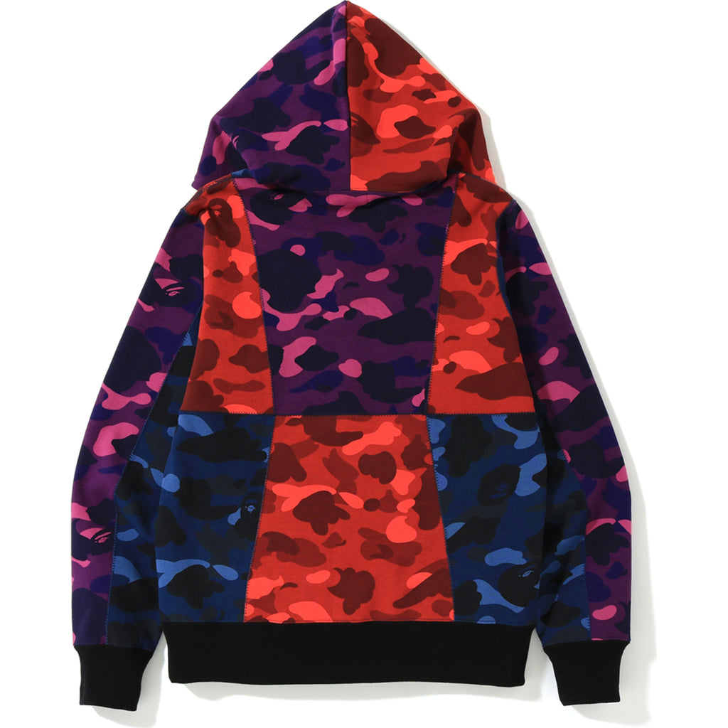 CRAZY COLOR CAMO FULL ZIP HOODIE MENS
