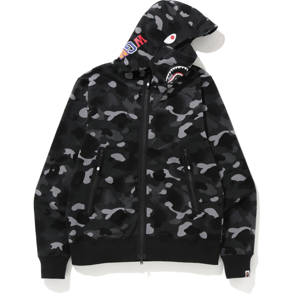 GRADATION CAMO SHARK MASK WIDE ZIP HOODI MENS