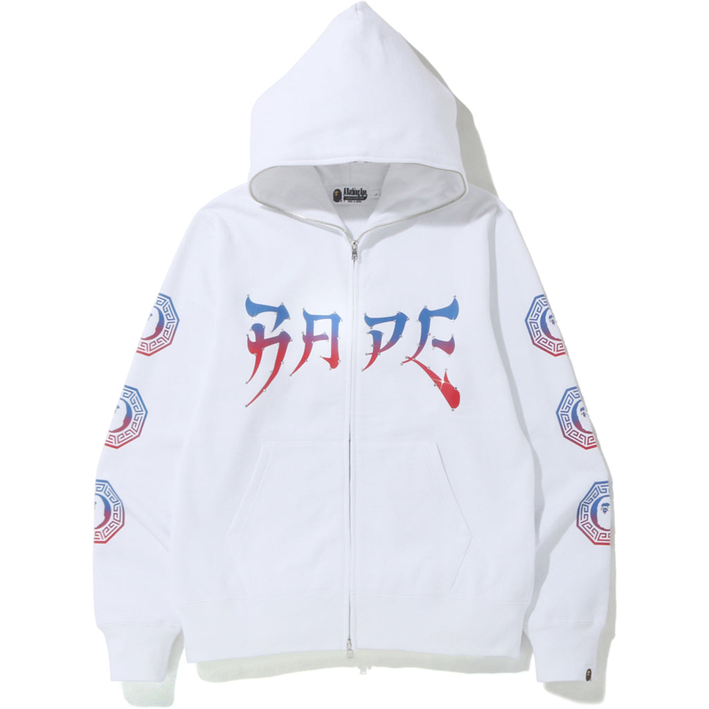 BAPE GRAPHIC FULL ZIP HOODIE MENS