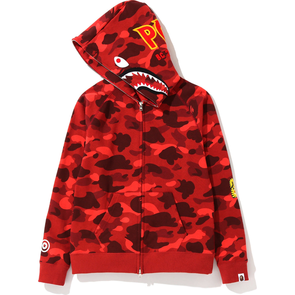 COLOR CAMO SHARK FULL ZIP HOODIE LADIES
