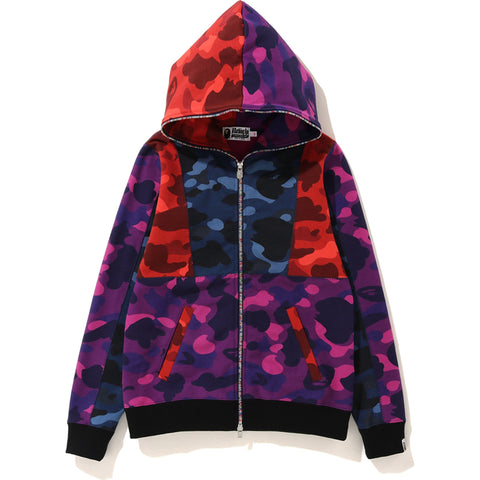 CRAZY COLOR CAMO FULL ZIP HOODIE LADIES