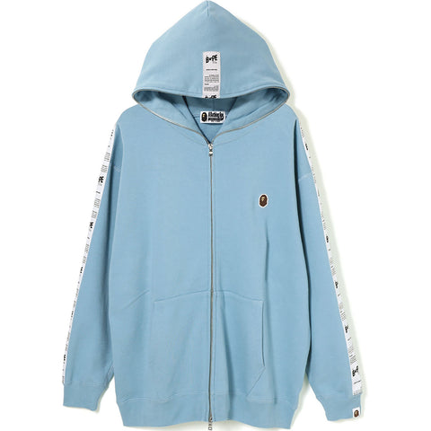 BAPE STA TAPE OVERSIZED FULL ZIP HOODIE LADIES
