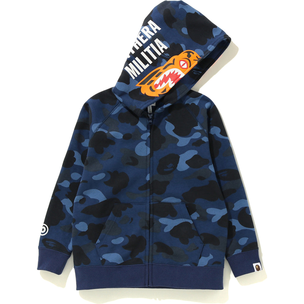 COLOR CAMO TIGER ZIP HOODIE KIDS