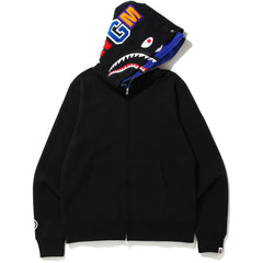 SHARK FULL ZIP DOUBLE HOODIE MENS