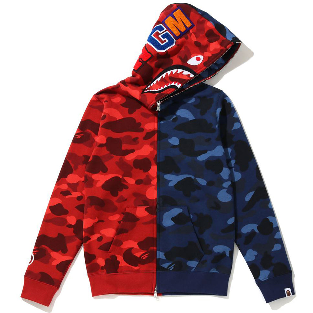 COLOR CAMO HALF SHARK FULL ZIP HOODIE LADIES