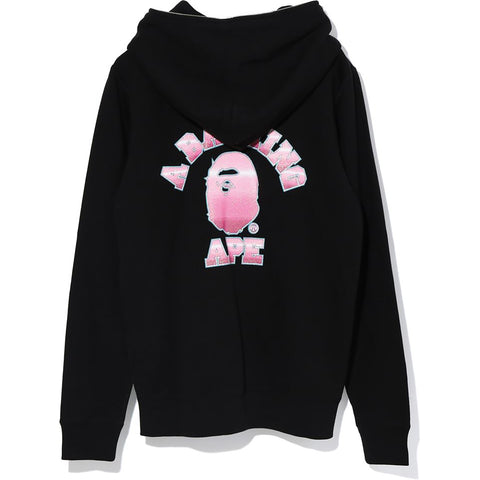 KATAKANA COLLEGE FULL ZIP HOODIE LADIES