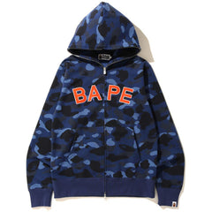 COLOR CAMO BAPE FULL ZIP HOODIE MENS