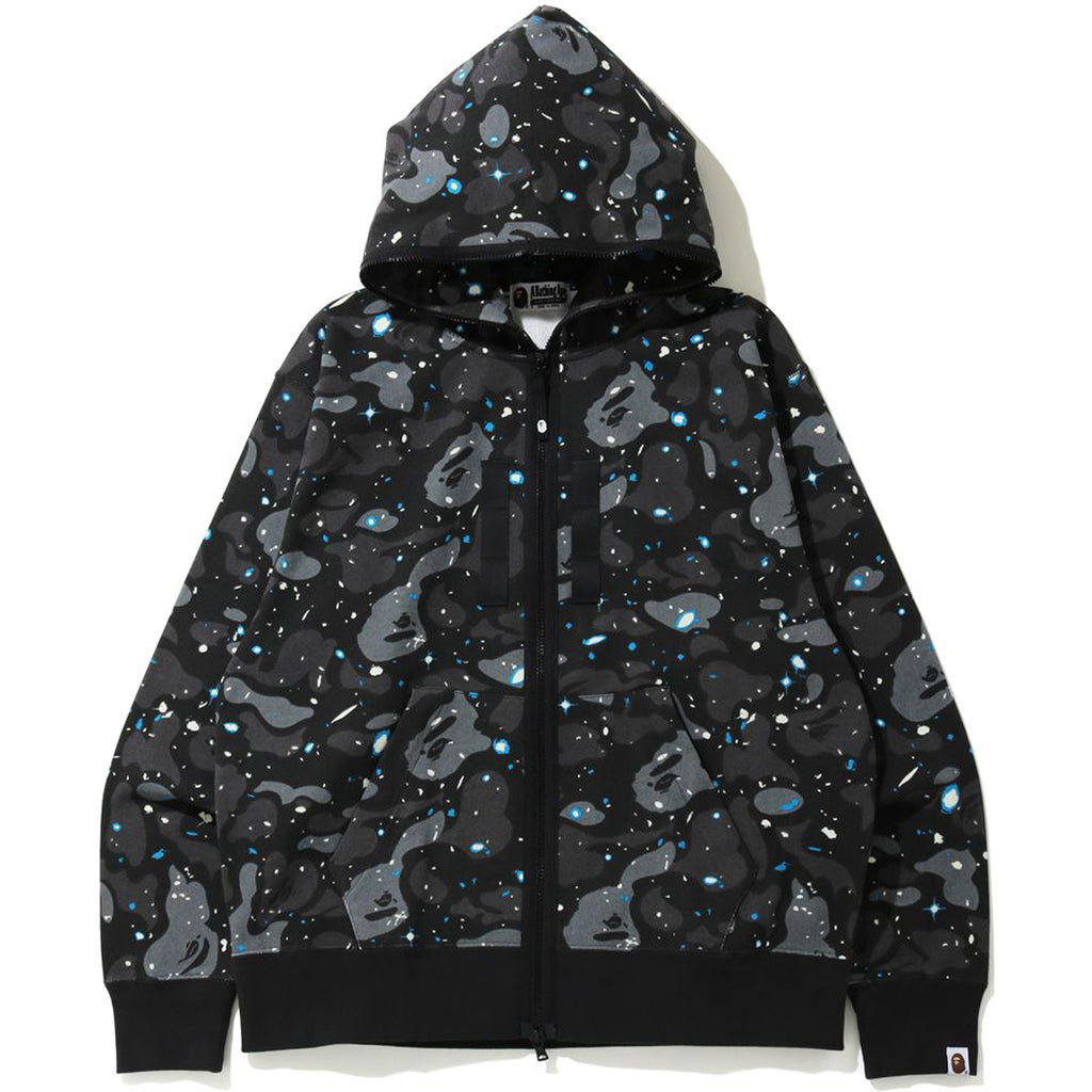 RELAXED SPACE CAMO FULL ZIP HOODIE MENS