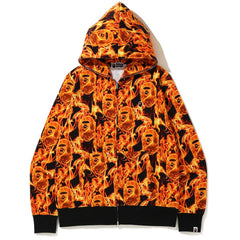 BAPE FLAME WIDE FULL ZIP HOODIE MENS