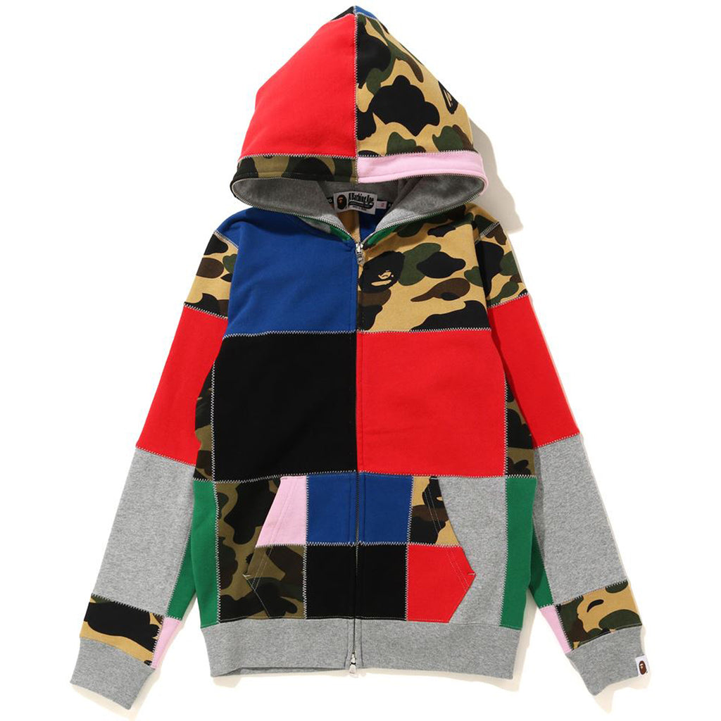 PATCHWORK FULL ZIP HOODIE LADIES