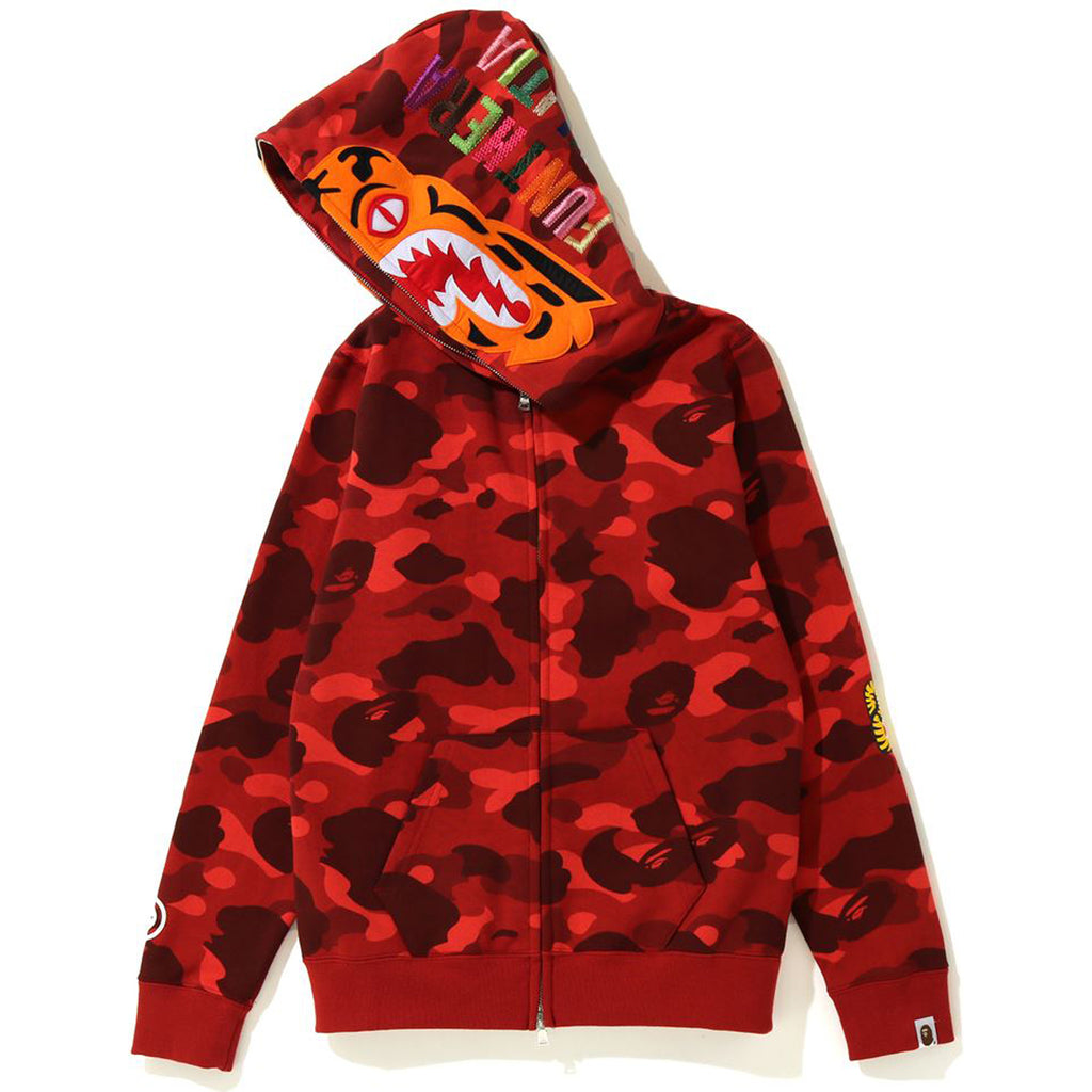 COLOR CAMO TIGER FULL ZIP HOODIE LADIES