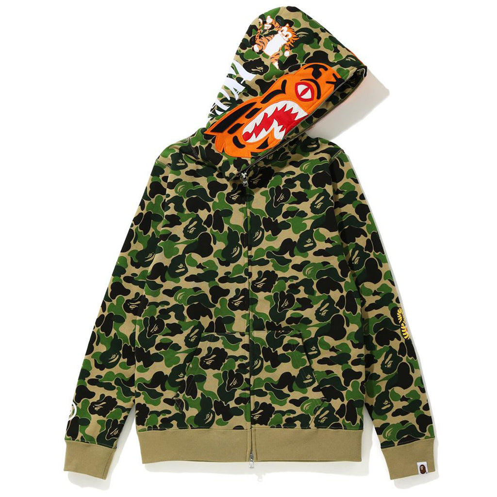 ABC CAMO TIGER FULL ZIP HOODIE LADIES