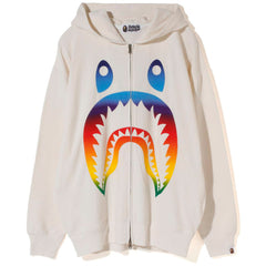 RAINBOW SHARK OVERSIZED ZIP HOODIE LADIES