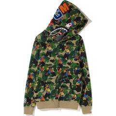 ABC CAMO FLOWER SHARK FULL ZIP HOODIE LADIES