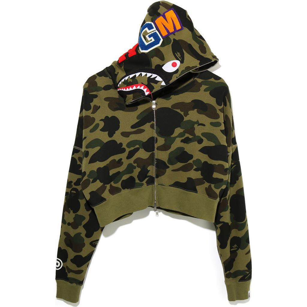 1ST CAMO SHARK SHORT FULL ZIP HOODIE LADIES