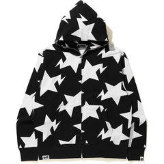 RELAXED STA PATTERN  FULL ZIP HOODIE MENS