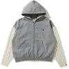 CABLE KNIT WIDE ZIP HOODIE LADIES