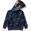 COLOR CAMO SHARK ZIP DOUBLE HOODIE KIDS