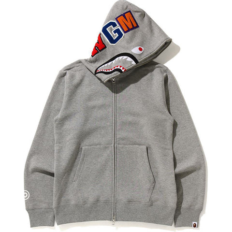 SHARK FULL ZIP HOODIE MENS