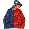 COLOR CAMO TIGER SHARK HALF FULL ZIP HOO MENS