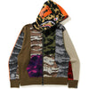 CRAZY CAMO MAD SHARK RELAXED FULL ZIP HOODIE MENS