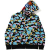 NEW MULTI CAMO SHARK RELAXED FULL ZIP HOODIE MENS