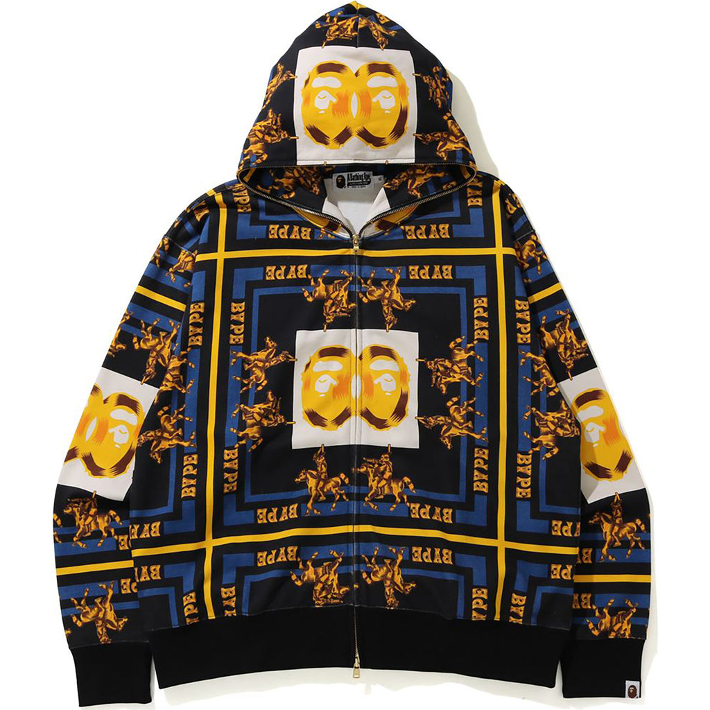 DOUBLE APE HEAD RELAXED FULL ZIP HOODIE MENS