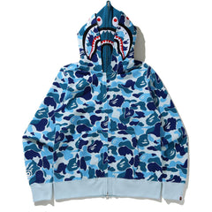 BIG ABC CAMO SHARK FULL ZIP DOUBLE HOODIE LADIES