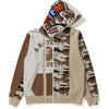 DESERT CAMO PANEL SHARK FULL ZIP HOODIE LADIES