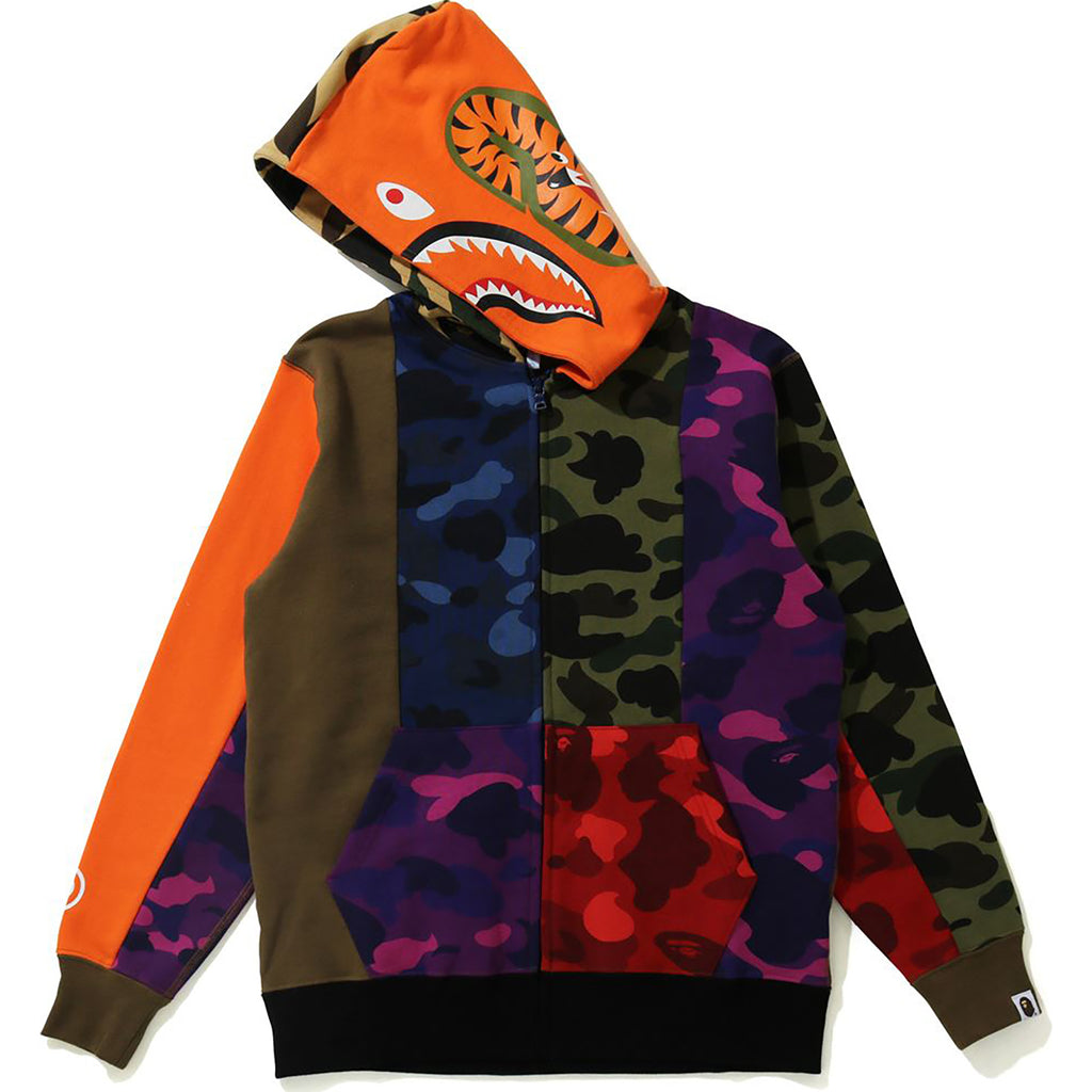 CRAZY CAMO SHARK ZIP HOODIE JR KIDS