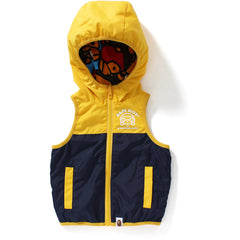 ALL BABY MILO MUL REVERSIBLE HOODIE VEST KIDS