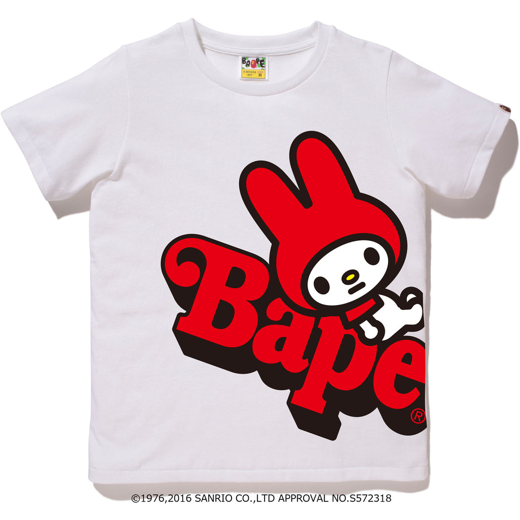 MY MELODY ON BAPE TEE L