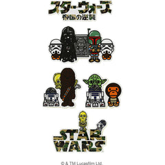 STAR WARS X BAPE STICKER SET MENS