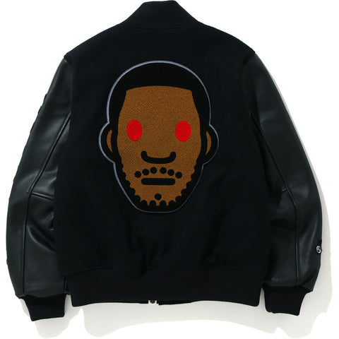 BAPE X KID CUDI VARSITY JACKET MENS