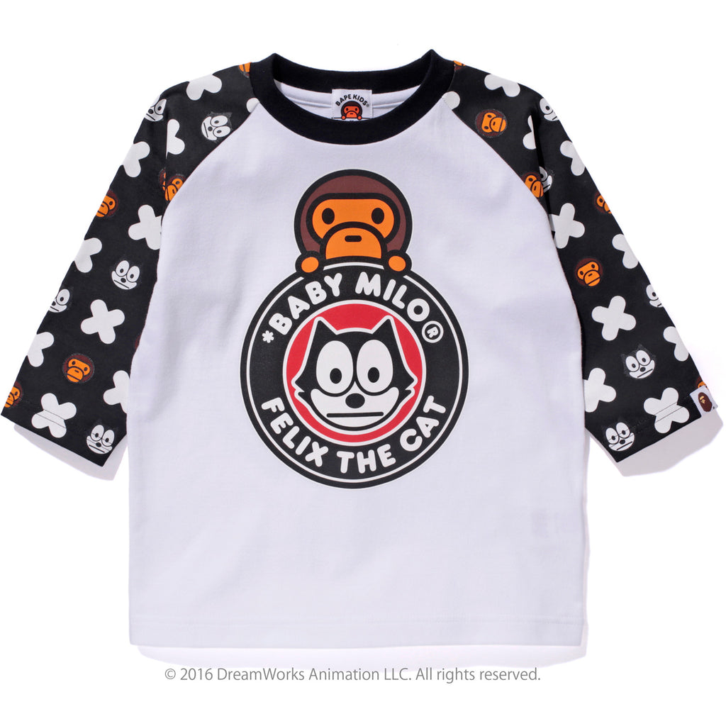 FELIX THE CAT MONOGRAM RAGLAN