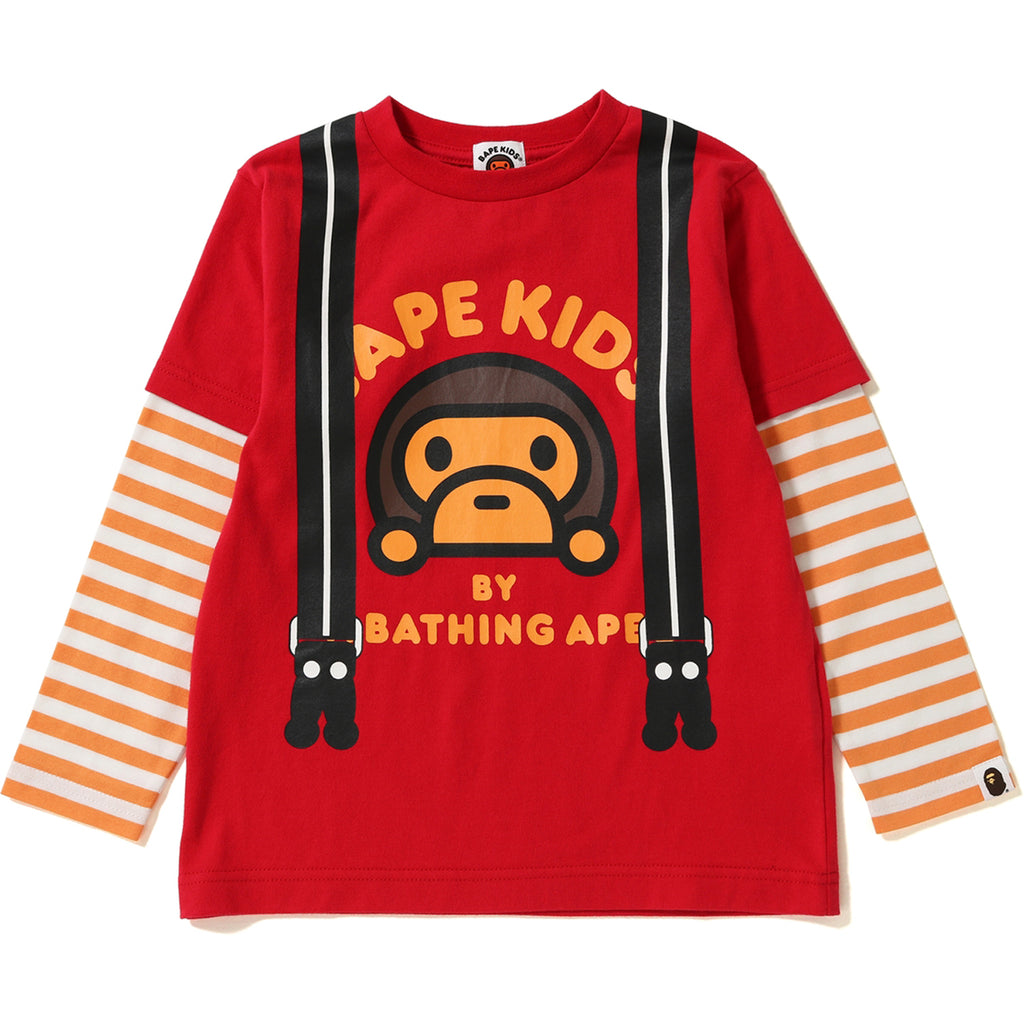 MILO FAKE SUSPENDERS LAYERED L/S TEE KIDS