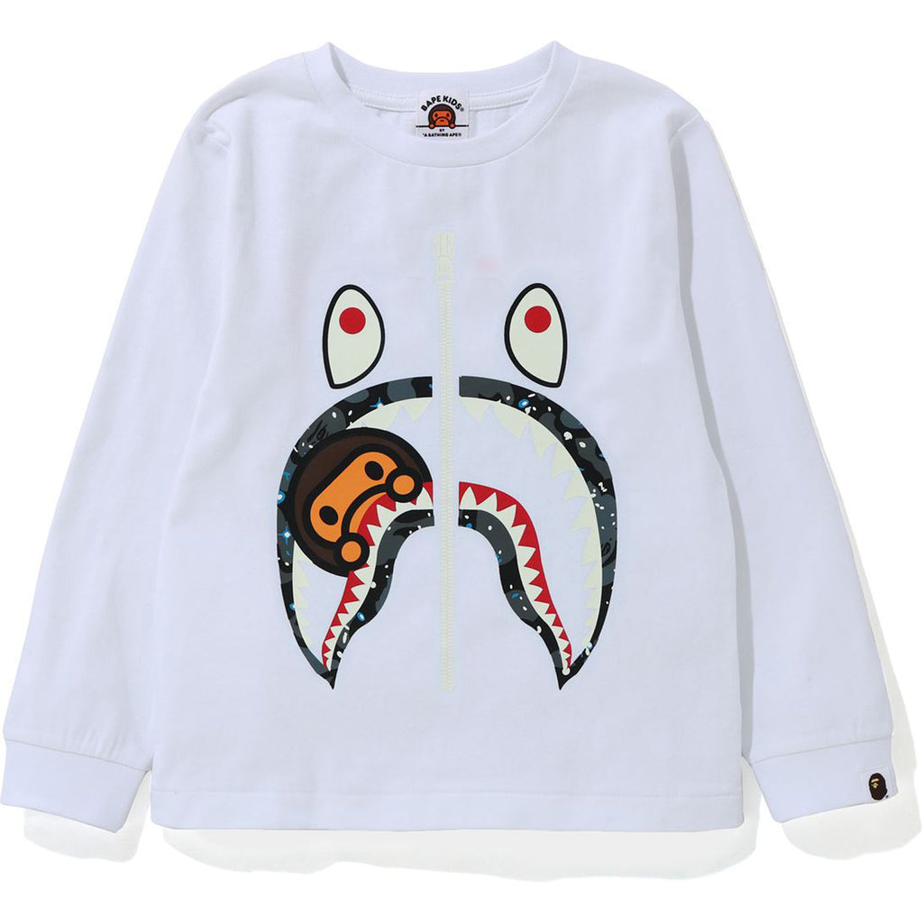 SPACE CAMO MILO SHARK L/S TEE KIDS