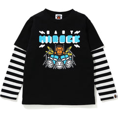 MILO ROCK HOOP LAYERED L/S TEE KIDS