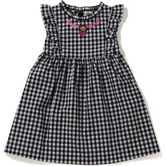 GINGHAM CHECK STRAWBERRY MILO ONEPIECE KIDS