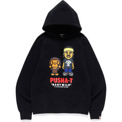 PUSHA-T X BAPE BABY MILO PULLOVER HOODIE MENS