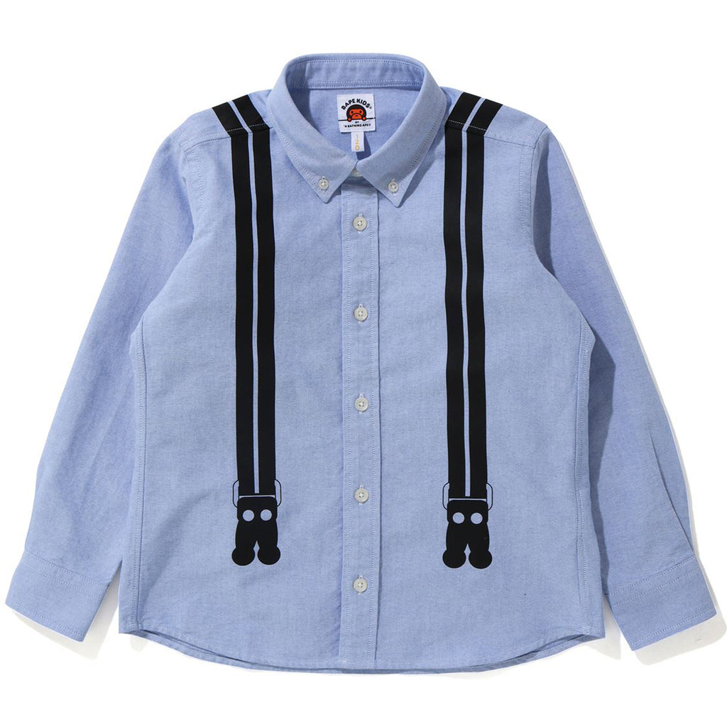 MILO SUSPENDERS PRINT OXFORD BD SHIRT KIDS