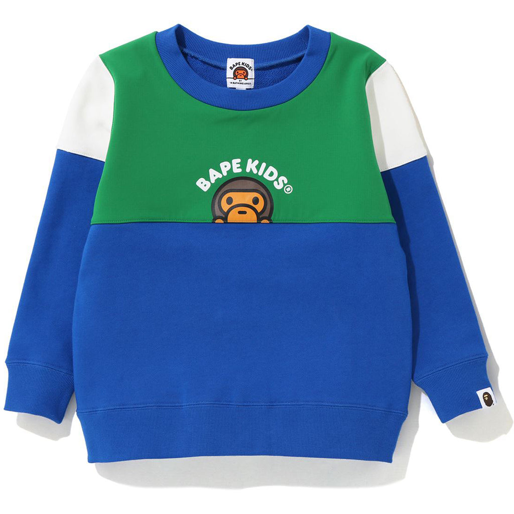 BABY MILO COLOR BLOCK CREWNECK KIDS