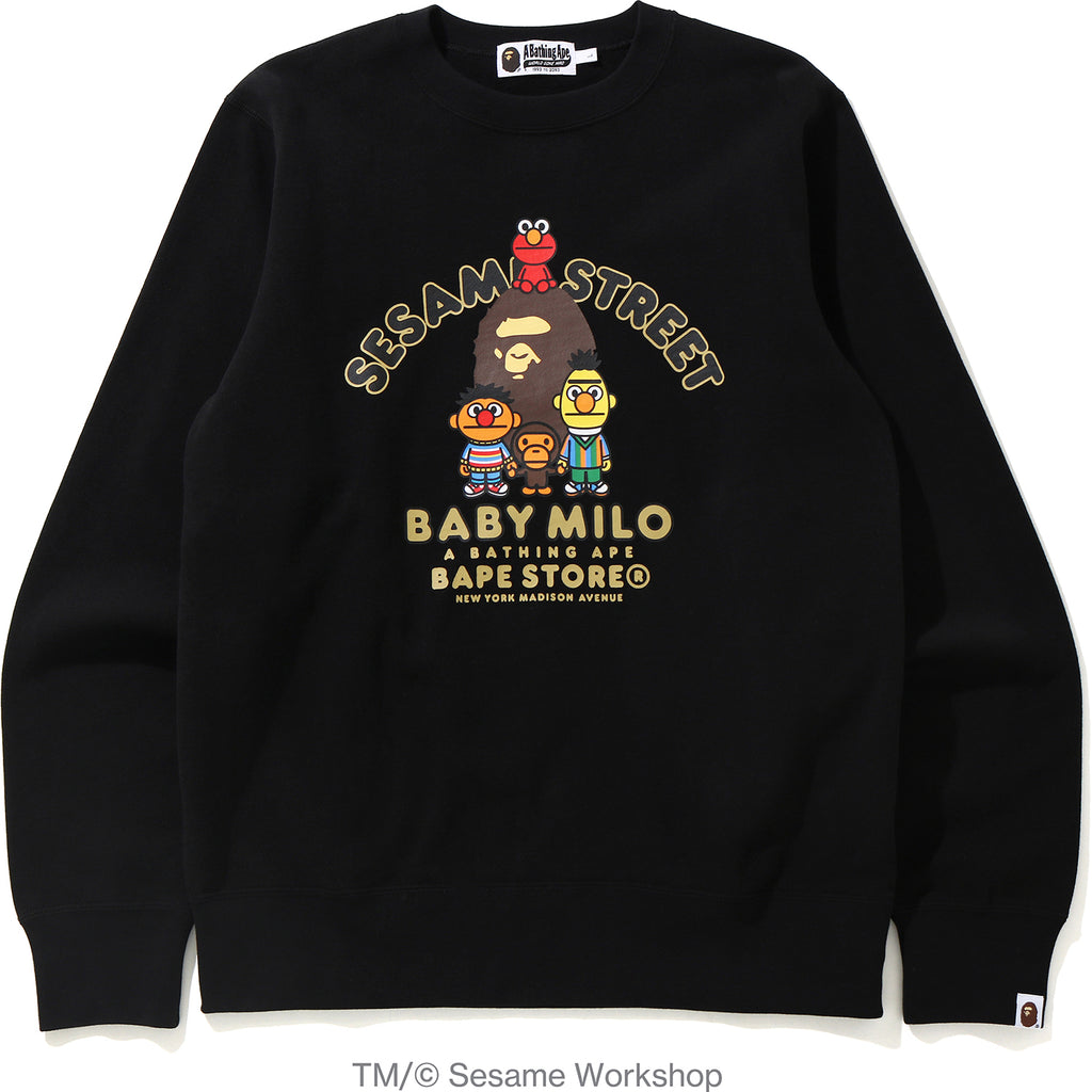 BAPE X SESAME MADISON CREWNECK MENS