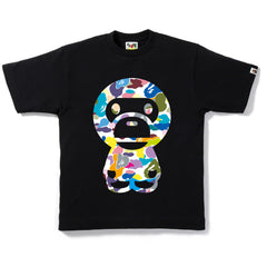 MULTI CAMO BIG BABY MILO TEE MENS