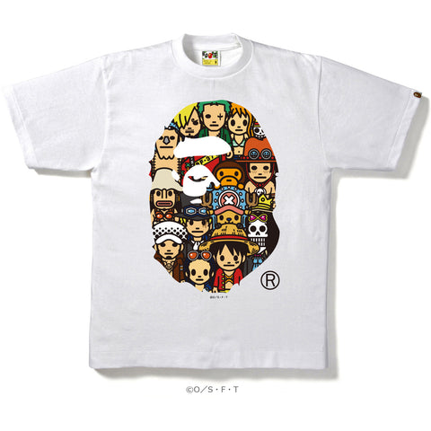 ONEPIECE CHARACTERS APE HEAD TEE MENS
