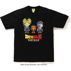 BAPE X DRAGON BALL Z BABY MILO TRUNKS & MECHA FRIEZA TEE MENS