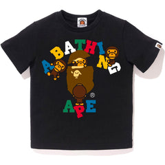 MULTI COLOR TEXT COLLEGE MILO TEE KIDS